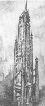 Anton Furst Gotham cathedral