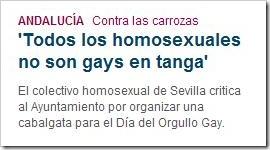 Todos los homosexuales no son gays en tanga