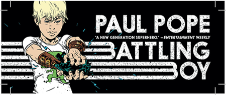 battling boy banner