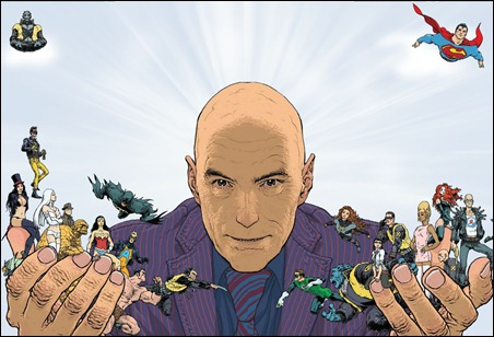 Grant Morrison by Frank quitely